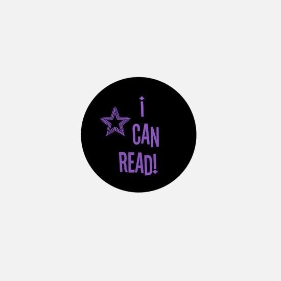 Unique I love reading Mini Button