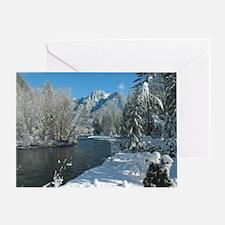 Beautiful Alpine White Christmas Holiday Greeting