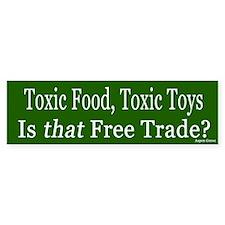 Toxic Food and Toys Bumper Bumper Sticker