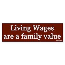 Living Wages Bumper Bumper Sticker