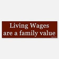 Living Wages Bumper Car Car Sticker