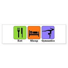 Eat Sleep Gymnastics Bumper Bumper Sticker