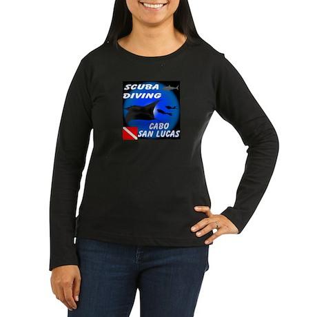Scuba Diving Cabo Women's Long Sleeve Dark T-Shirt