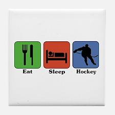 Eat Sleep Hockey Tile Coaster