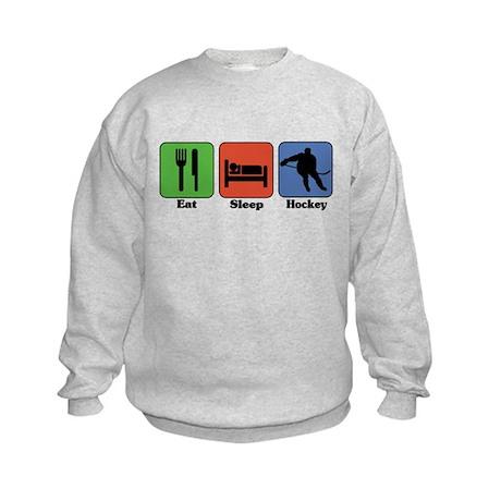 Eat Sleep Hockey Kids Sweatshirt