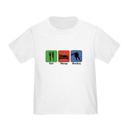 Eat Sleep Hockey Toddler T-Shirt