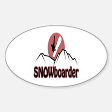 Snowboarder Logo Oval Decal