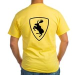 Yellow Moose Tee, Print on Back Only, 10