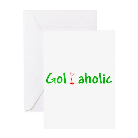 Golfaholic Greeting Card