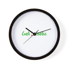Golfaholic Wall Clock