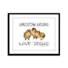 CHRISTIAN CHICKS LOVE JESUS Framed Panel Print