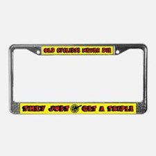 Unique Old soldiers never die License Plate Frame
