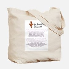 Crucifix/Pieta/St. Francis Prayer Tote Bag