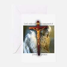 Crucifix/Pieta/St. Francis Greeting Cards (6)