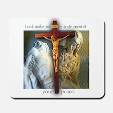 Crucifix/Pieta Mousepad