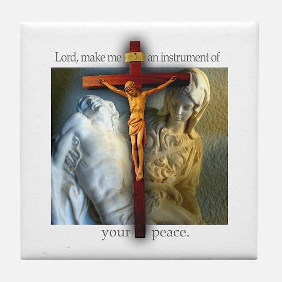 Crucifix/Pieta Tile Coaster