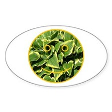 Hosta Smiley Face Oval Decal