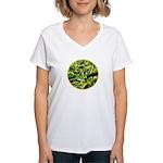 Hosta Smiley Face Women's V-Neck T-Shirt