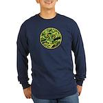 Hosta Smiley Face Long Sleeve Dark T-Shirt