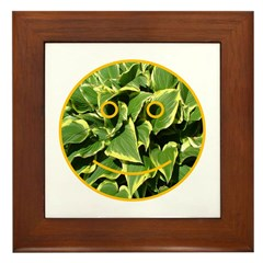 Hosta Smiley Face Framed Tile
