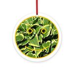 Hosta Smiley Face Ornament (Round)