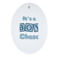 It's A Boy - Chase Oval Ornament
