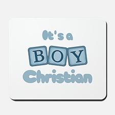 It's A Boy - Christian Mousepad