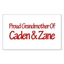 Proud Grandmother of Caden an Sticker (Rectangular