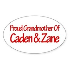 Proud Grandmother of Caden an Oval Decal