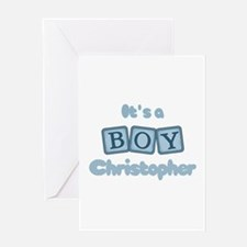 It's A Boy - Christopher Greeting Card