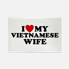 I Love My Vietnamese Wife Rectangle Magnet