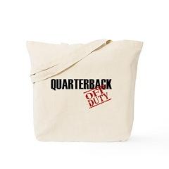 Off Duty Quarterback Tote Bag