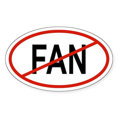 FAN Oval Sticker