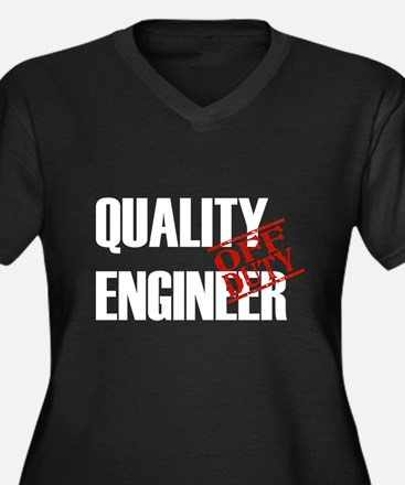 Off Duty Quality Engineer Women's Plus Size V-Neck
