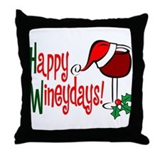 Happy Wineydays Throw Pillow