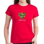 I Love Hostas Women's Dark T-Shirt