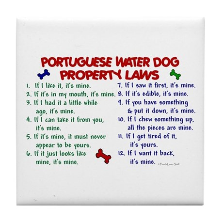 Portuguese Water Dog Property Laws 2 Tile Coaster