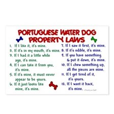 Portuguese Water Dog Property Laws 2 Postcards (Pa