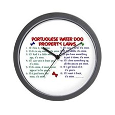 Portuguese Water Dog Property Laws 2 Wall Clock