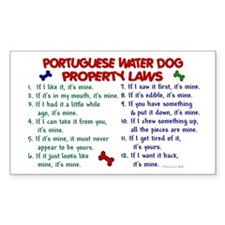 Portuguese Water Dog Property Laws 2 Decal