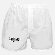 Yuliana Vintage (Black) Boxer Shorts
