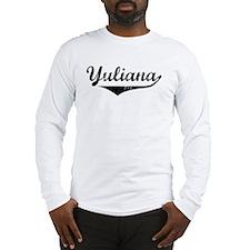 Yuliana Vintage (Black) Long Sleeve T-Shirt