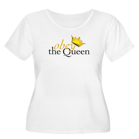 Obey the Queen Women's Plus Size Scoop Neck T-Shir