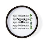 No more hostas Wall Clock