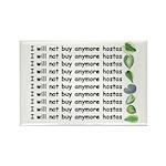 No more hostas Rectangle Magnet (100 pack)