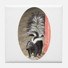 Little Skunk Big Tail Tile Coaster