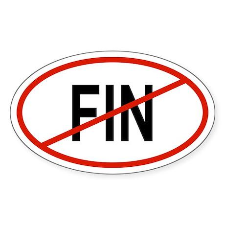 FIN Oval Sticker