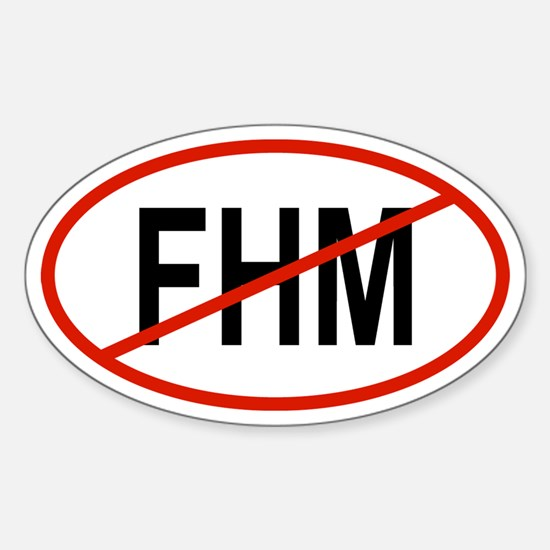 FHM Oval Decal