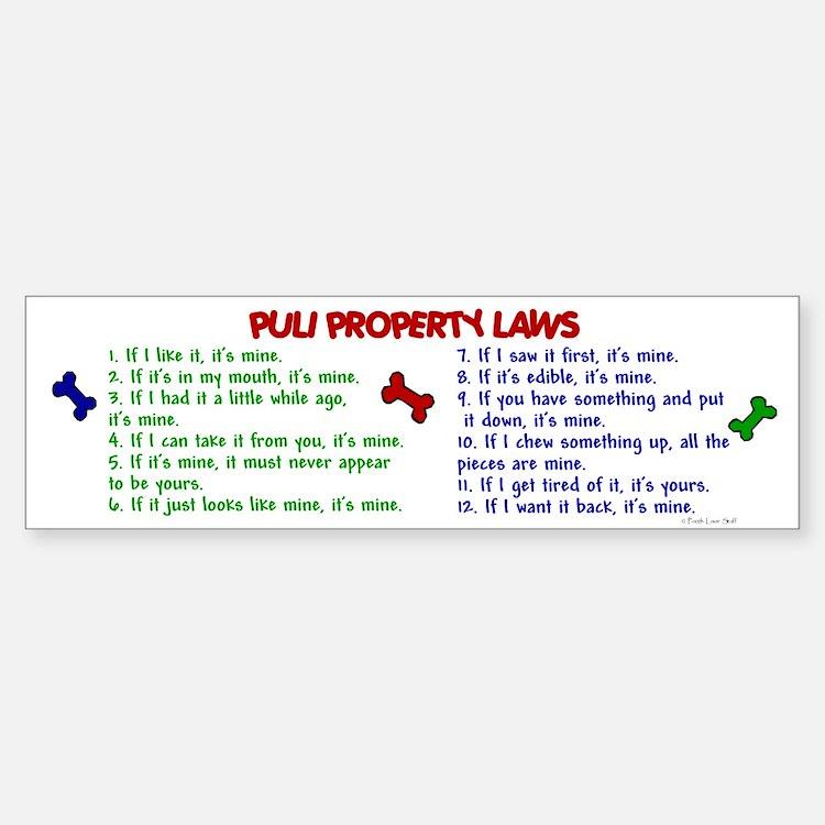 Puli Property Laws 2 Bumper Bumper Bumper Sticker
