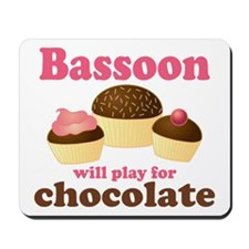 Funny Chocolate Bassoon Mousepad